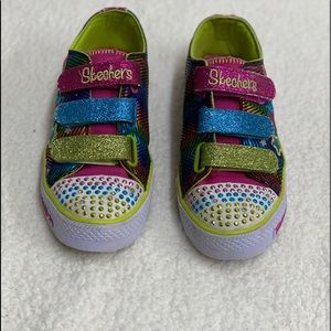 Skechers Light up Twinkle Toes Shoes Sz 4.5